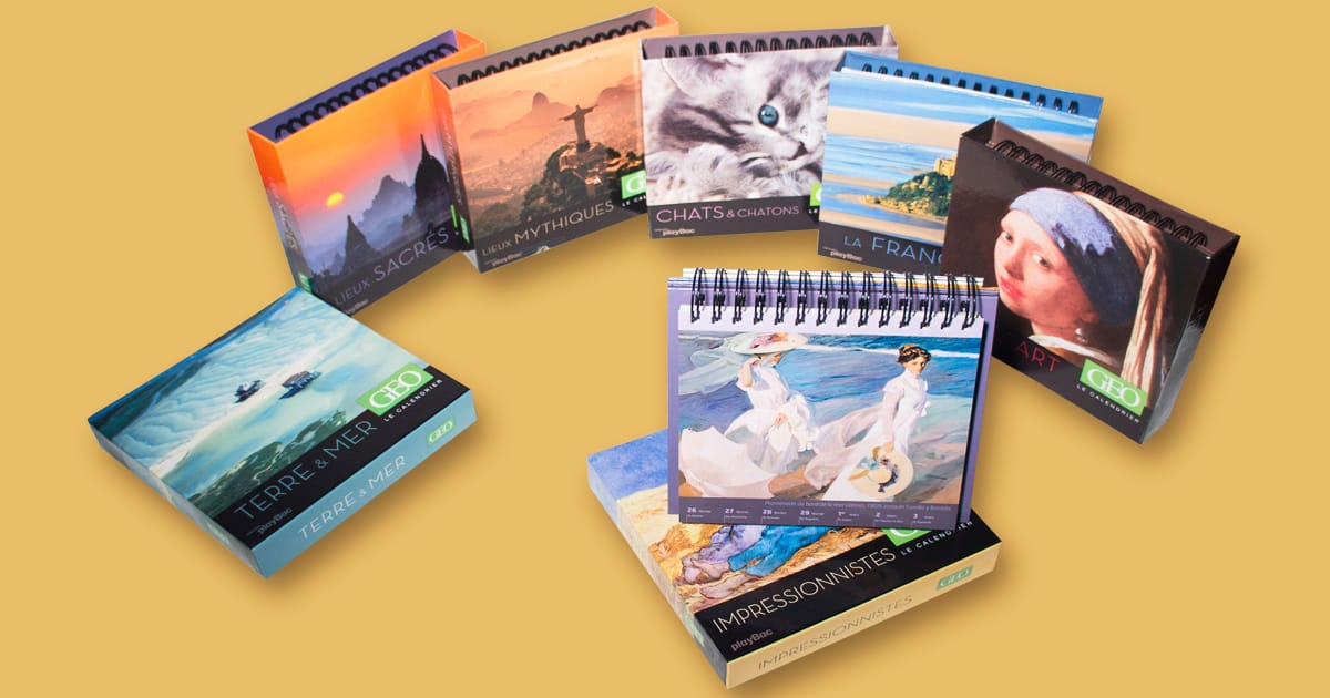 Collection de calendriers chevalets GEO